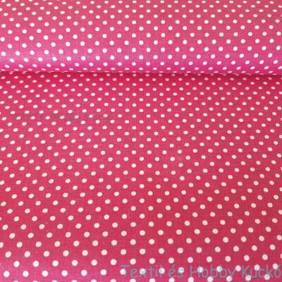 pink - pöttyös pamutvászon