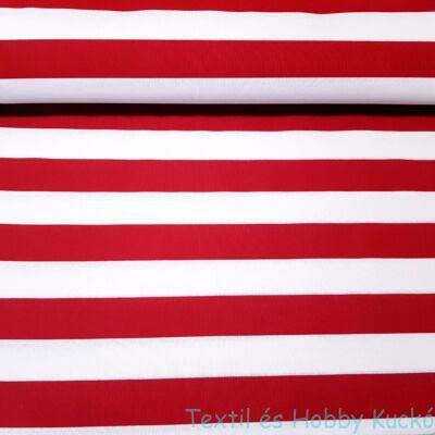 Piros-fehér csíkos dekorvászon