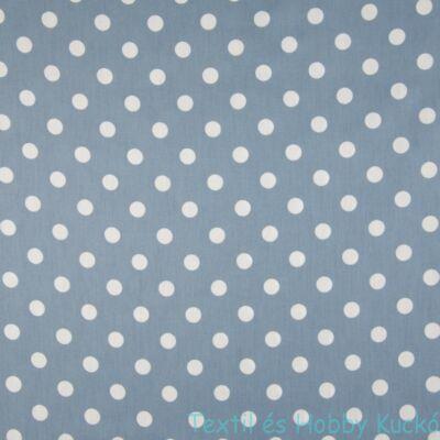 Dusty Blue pöttyös pamut puplin - 12 mm