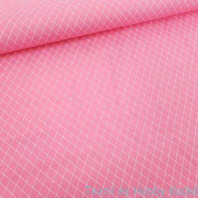 Rombusz mintás pamutvászon Rózsaszín (160 cm)