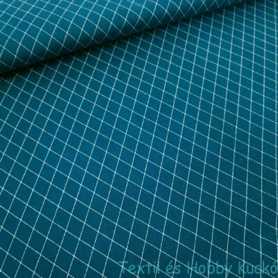 Rombusz mintás pamutvászon Zafír (160 cm)