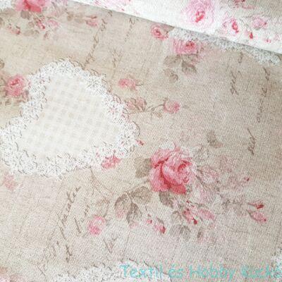 rózsás-csipkés dekorvászon