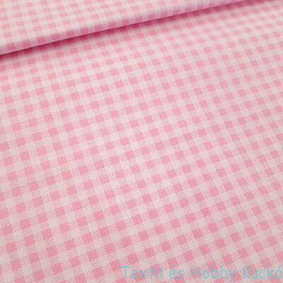 rózsaszín kockás pamutvászon