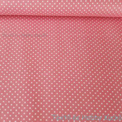 rózsaszín pöttyös pamutvászon