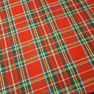 Skótkockás szövött vászon - nagykockás