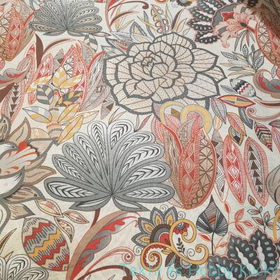 Színes nagy virágos dekorvászon