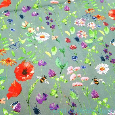 Tavaszi virágos pamutvászon