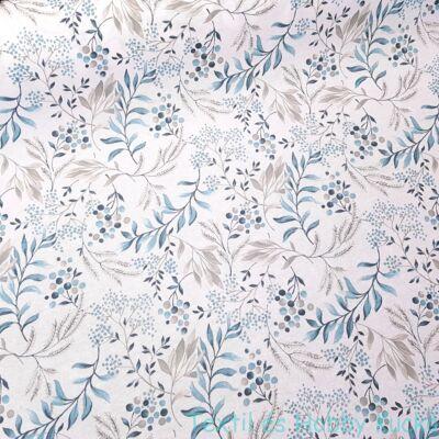 Türkiz-barna leveles impregnált vászon