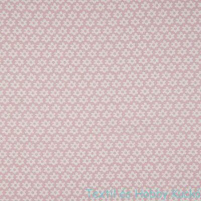 Virágmintás pamutvászon - Dusty pink