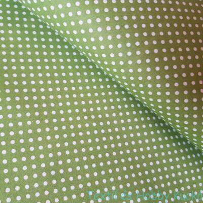 zöld pöttyös pamutvászon