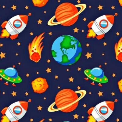 űrhajós pamutvászon