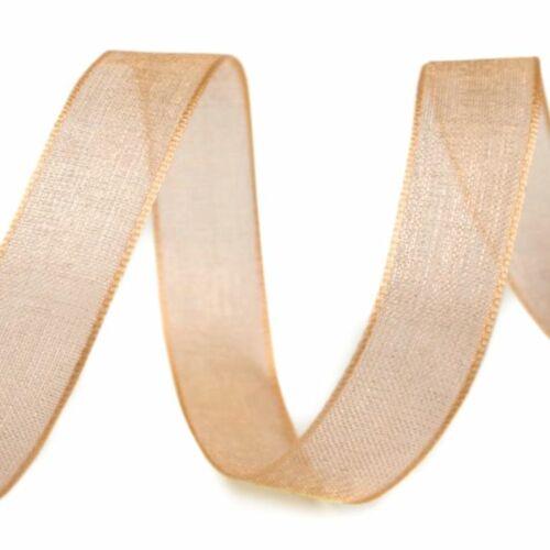 Organza szalag - arany - 10 mm