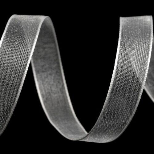 Organza szalag - fehér- 10 mm