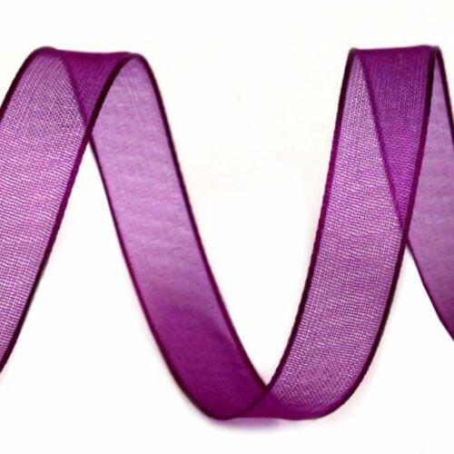 Organza szalag - lila- 10 mm