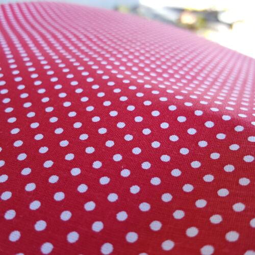 Piros pöttyös pamutvászon (2mm)