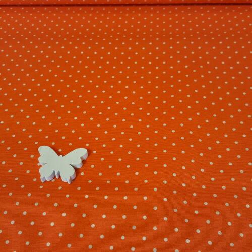 Pöttyös - narancssárga dekorvászon