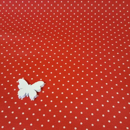 Pöttyös - piros dekorvászon