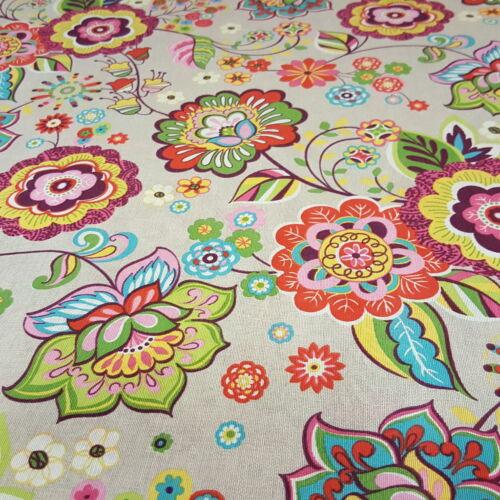 Nagy, színes virágos dekorvászon (Olga)