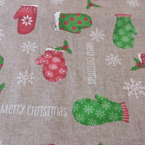 Karácsonyi kesztyűs dekorvászon