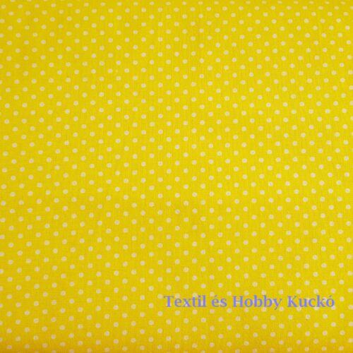 sárga - pöttyös pamutvászon