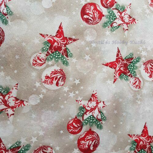 Karácsonyi dekorvászon piros, fehér díszekkel
