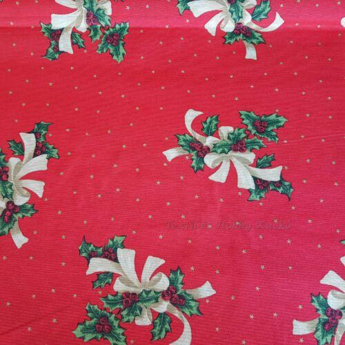 Karácsonyi dekorvászon piros alapon