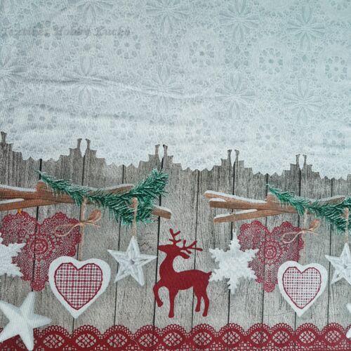 Karácsonyi dekorvászon bordür széllel