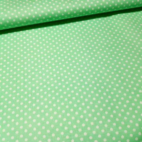 Almazöld alapon pöttyös pamutvászon ( 2 mm )