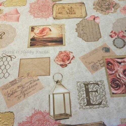 Antik rózsás dekorvászon
