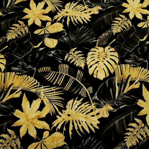 Arany pálmaleveles pamutvászon (160 cm)