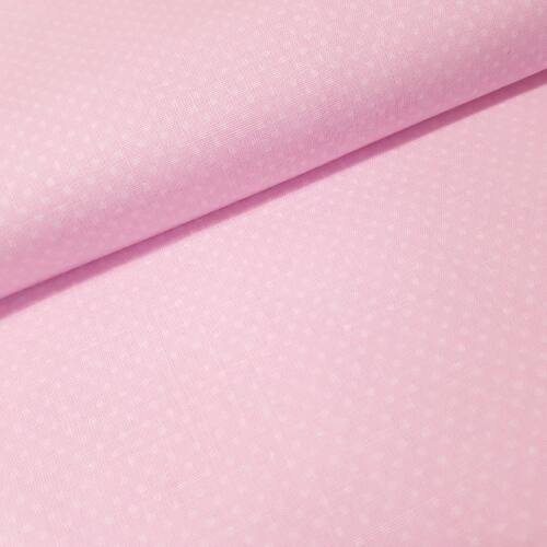 Babarózsaszín alapon pöttyös pamutvászon ( 2 mm )