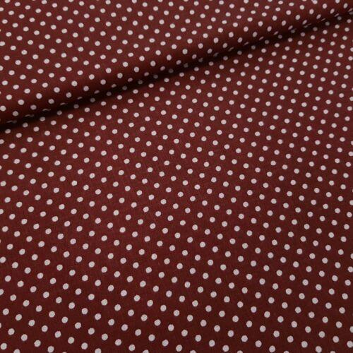Bordó alapon pöttyös pamutvászon ( 2 mm )