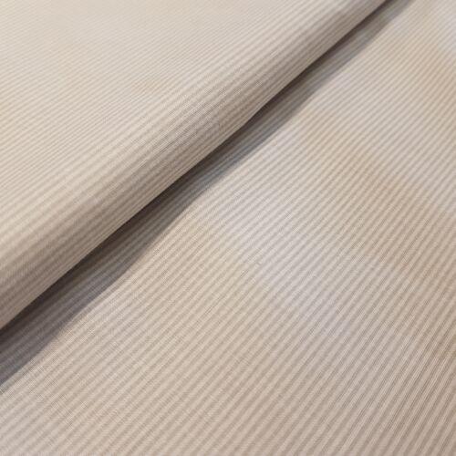 Drapp csíkos pamutvászon - 1 mm