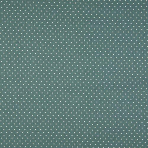 Dusty Green pöttyös PRÉMIUM pamutvászon - 2 mm