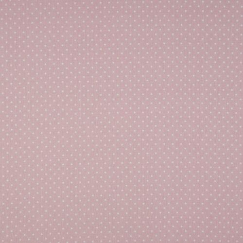 Dusty Pink pöttyös PRÉMIUM pamutvászon - 2 mm