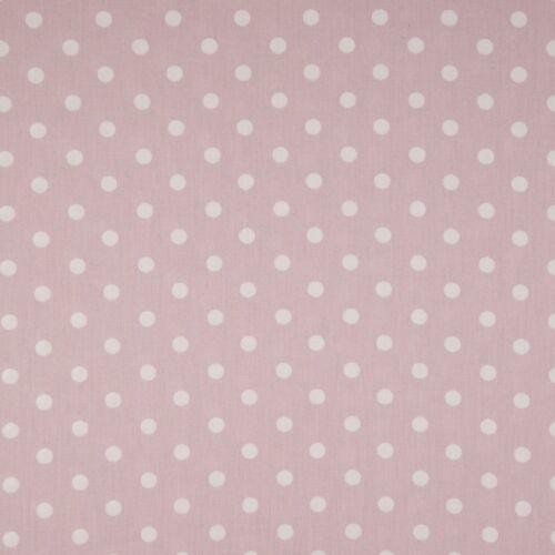 Dusty Pink pöttyös PRÉMIUM pamutvászon - 5 mm