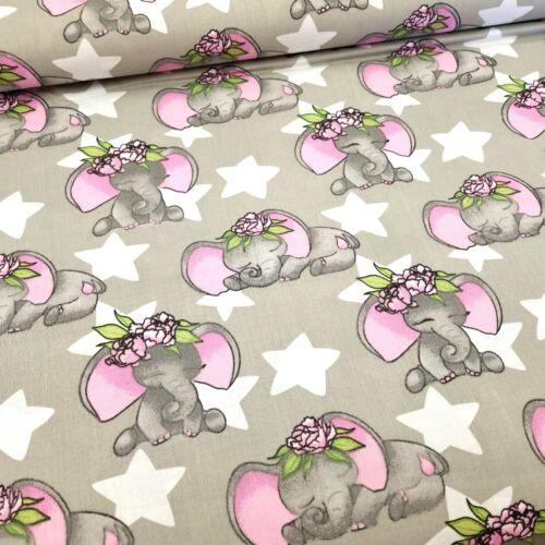 Elefántos pamutvászon - rózsaszín