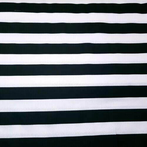 Fekete-fehér csíkos dekorvászon