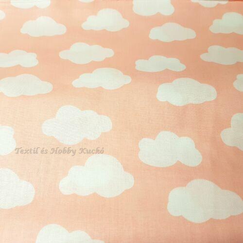 Felhős pamutvászon - rózsaszín