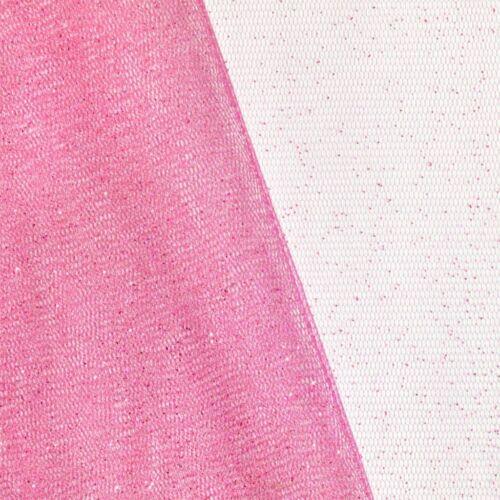Elasztikus glittertüll - Rózsaszín