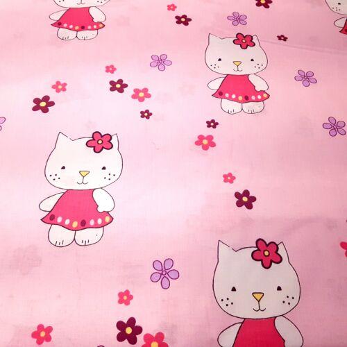 Hello Kittys pamutvászon rózsaszín (160 cm)