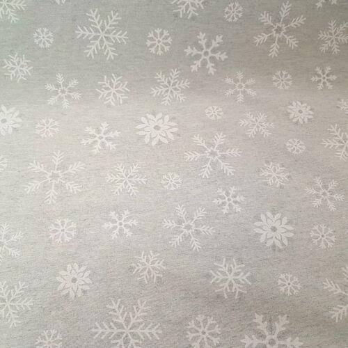 Hópelyhes karácsonyi dekorvászon (szürke) - ezüst csillogással