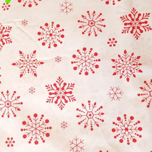 Hópelyhes karácsonyi pamutvászon fehér alapon (160 cm)