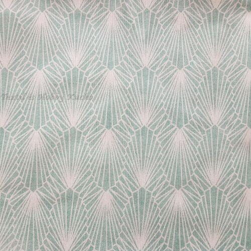 Gyémánt, absztrakt mintás, jade zöld dekorvászon