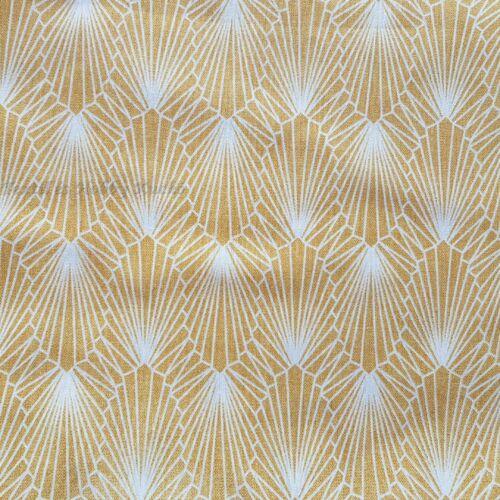 Gyémánt, absztrakt mintás, sárga dekorvászon