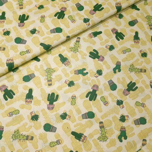 Kaktuszos pamutvászon - zöld