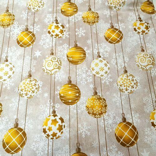 Karácsonyfadíszes dekorvászon - arany