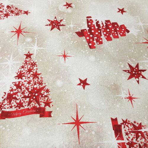 Piros karácsonyfás dekorvászon