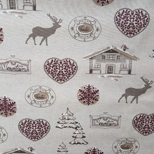 Karácsonyi impregnált vászon - Téli, szarvasos