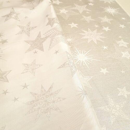 Karácsonyi jacquard dekortextil - ezüst csillagos